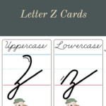 How To Make A Cursive Z - Printable Cards | Cursive pertaining to Cursive Letters Tracing Guide
