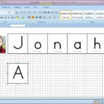 How To Make A Letter Tile Printable Using Microsoft Word throughout Tracing Letters And Words