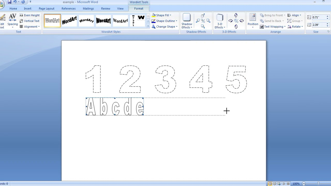 How To Make Dashed Letters And Number Tracing In Microsoft in How To Make Tracing Letters In Word