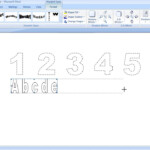 How To Make Dashed Letters And Number Tracing In Microsoft regarding How To Make Dotted Letters For Tracing In Word