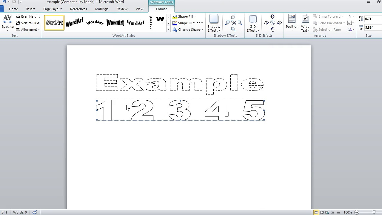How To Make Dashed Letters And Number Tracing In Microsoft regarding How To Make Tracing Letters In Word