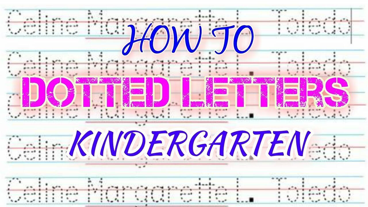 How To Make Dotted Letters (Tagalog )- Kindergarten intended for How To Make Tracing Letters In Microsoft Word 2010