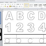 How To Make Dotted Typing Design In Microsoft Word inside Tracing Letters Font In Microsoft Word