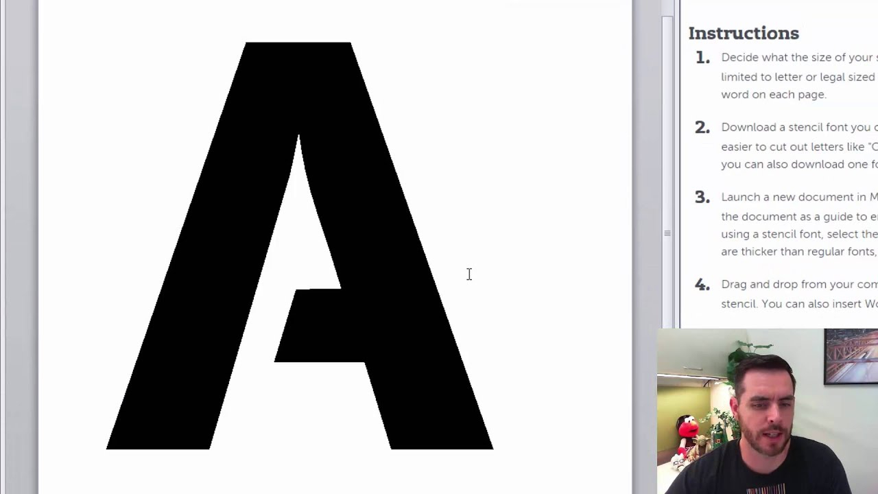 How To Make Stencils With Microsoft Word inside Tracing Stencils Letters