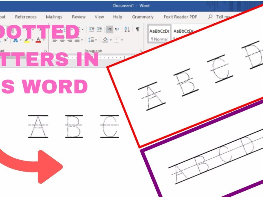 How To Make Tracing Letters In Microsoft Word throughout How To Create Tracing Letters