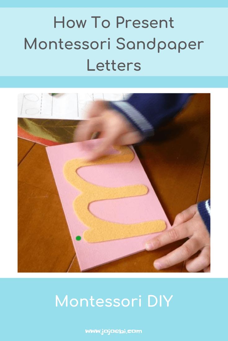 How To Present Montessori Sandpaper Letters » Jojoebi regarding Tracing Sandpaper Letters