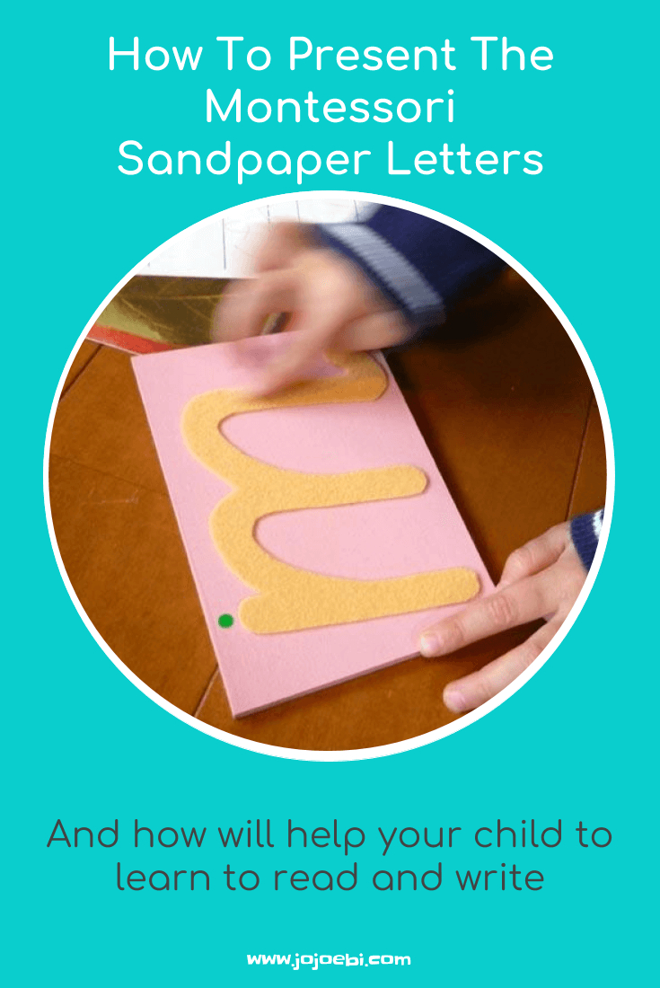 How To Present Montessori Sandpaper Letters » Jojoebi throughout Tracing Sandpaper Letters