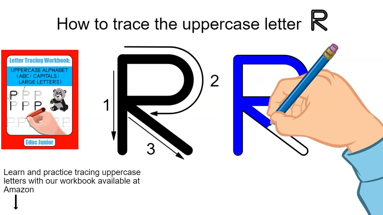 How To Trace The Uppercase Letter R intended for Finger Tracing Alphabet Letters