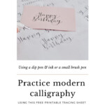 How To Write Happy Birthday In Modern Calligraphy Tracing within Happy Birthday Tracing Letters