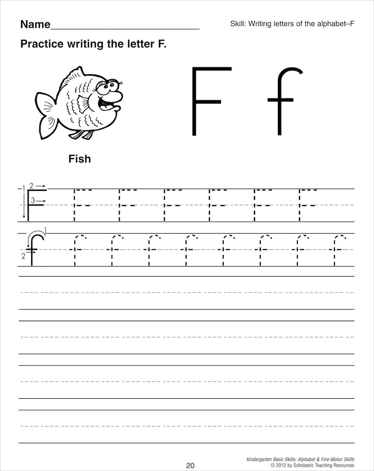 Imagescholastic Teaching Resources | Handwriting within Free Kindergarten Worksheets Tracing Letters