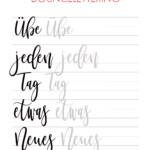 In Diesem Tutorial Zeige Ich Dir, Wie Bounce-Lettering, Das regarding Calligraphy Letters Tracing
