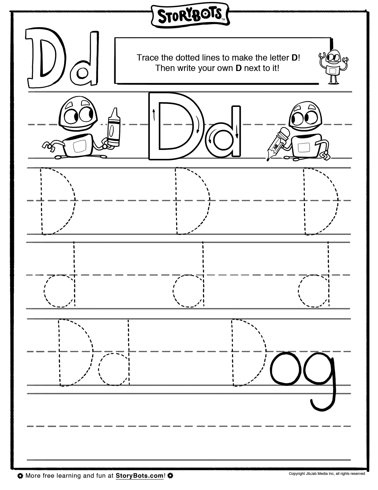 It's Easy To Draw A Letter D. Just Trace The Dotted Lines pertaining to Dotted Line Letters For Tracing
