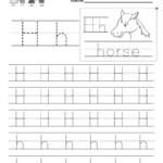 Kids Orksheets Letter H Riting Practice Orksheet Free throughout Tracing Letter H Worksheets Preschoolers