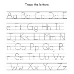 Kids Worksheets Az Printable Traceable Alphabet Z Activity with Tracing Letters Az