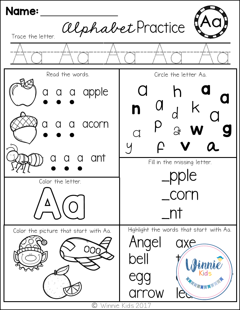 Kindergarten Alphabet Practice | Kindergarten Worksheets inside Interactive Tracing Letters
