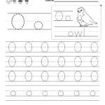 Kindergarten Letter O Writing Practice Worksheet Printable within Trace Letter O Worksheets