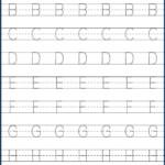 Kindergarten Letter Tracing Worksheets Pdf - Wallpaper Image inside Pre K Tracing Letters Worksheets