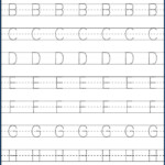 Kindergarten Letter Tracing Worksheets Pdf - Wallpaper Image intended for Free Tracing Letters And Numbers For Preschoolers