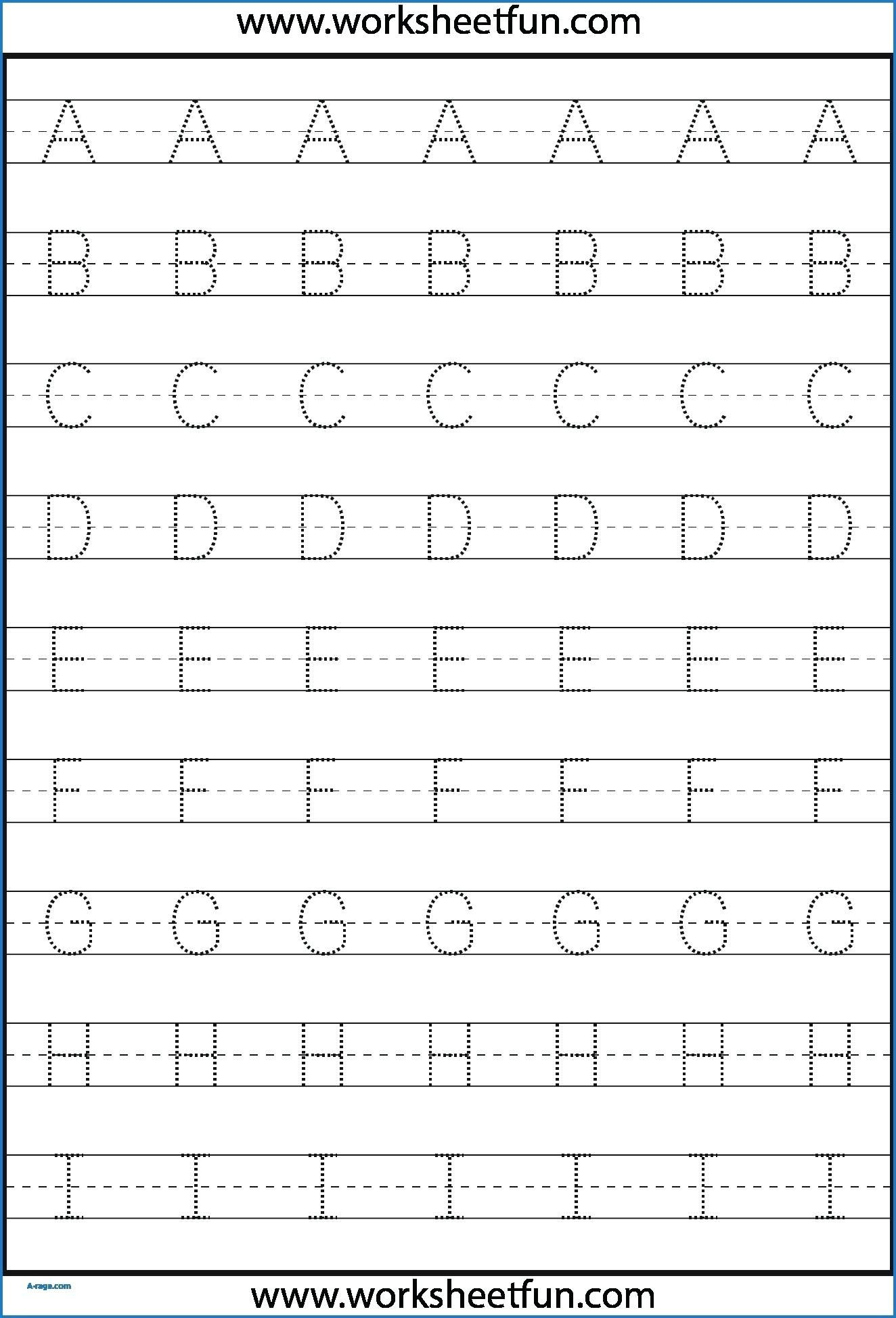 Kindergarten Letter Tracing Worksheets Pdf - Wallpaper Image within Dotted Letters For Tracing Preschool