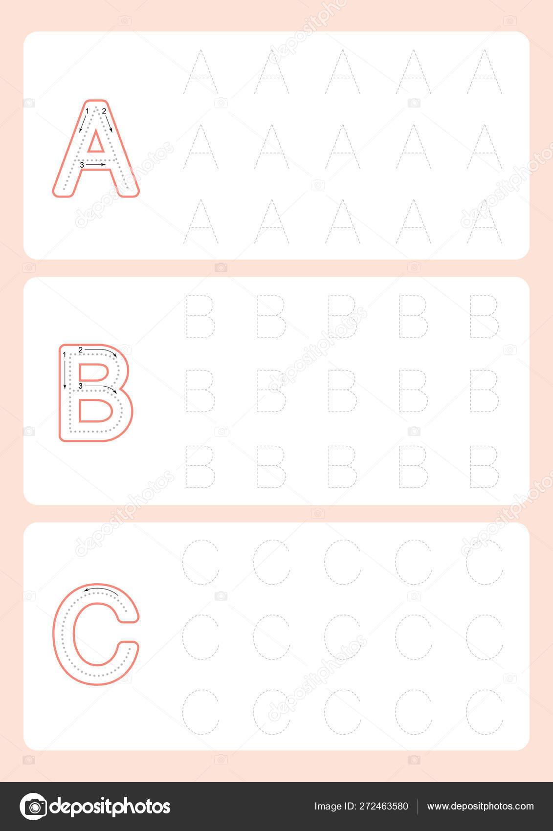 Kindergarten Tracing Letters Worksheets Alphabet Trace for Kindergarten Tracing Letters