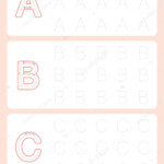 Kindergarten Tracing Letters Worksheets Alphabet Trace inside Tracing Letters For Kindergarten