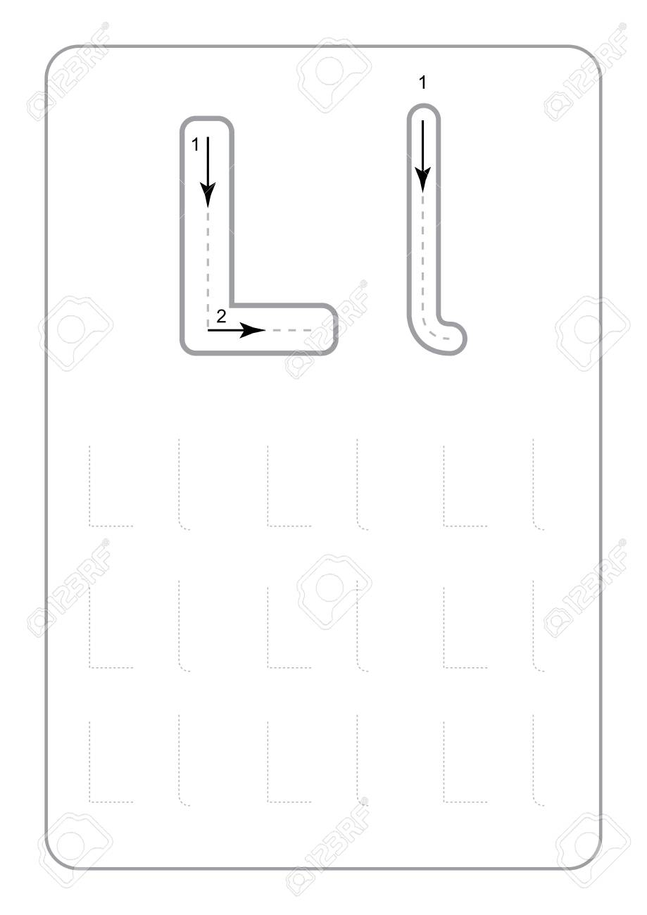 Kindergarten Tracing Letters Worksheets Monochrome Tracing Letters.. for Kindergarten Tracing Letters