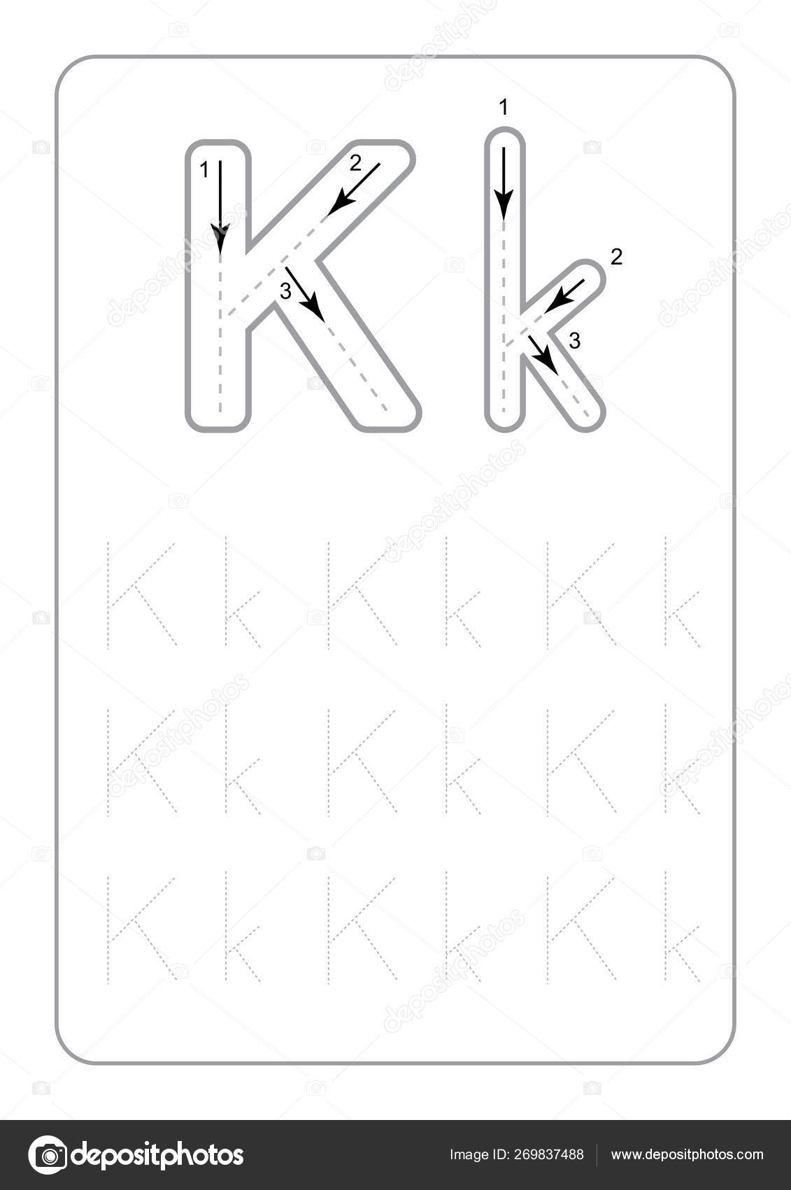 Kindergarten Tracing Letters Worksheets Monochrome Tracing throughout Kindergarten Tracing Letters
