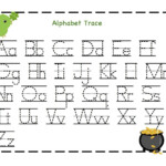 Kindergarten Worksheets Alphabet Pdf. Letters Sequences within Tracing Letters For Kindergarten Pdf