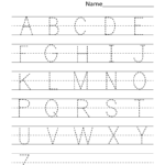 Kindergarten Worksheets Pdf Free Download | English with Uppercase Letters Tracing Free Printables