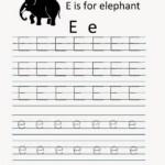 Kindergarten Worksheets: Printable Tracing Worksheet in E Letter Tracing Worksheet