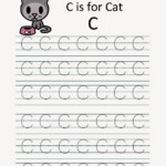 Kindergarten Worksheets: Printable Tracing Worksheets within C Letter Tracing Worksheet
