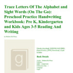 Kindle} Trace-Letters-Of-The-Alphabet-And-Sight-Words-(On pertaining to Free Online Tracing Letters