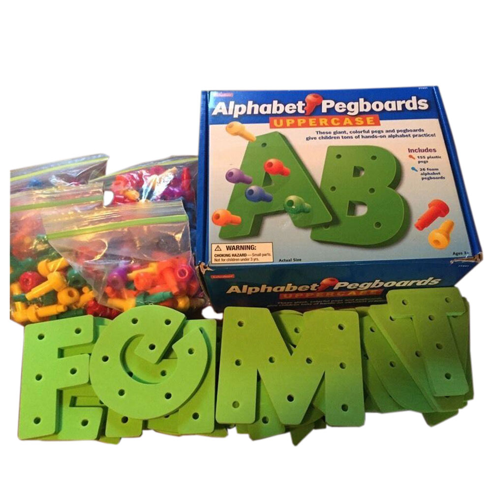 Lakeshore - Alphabet Pegboards And Pegs intended for Lakeshore Tracing Letters