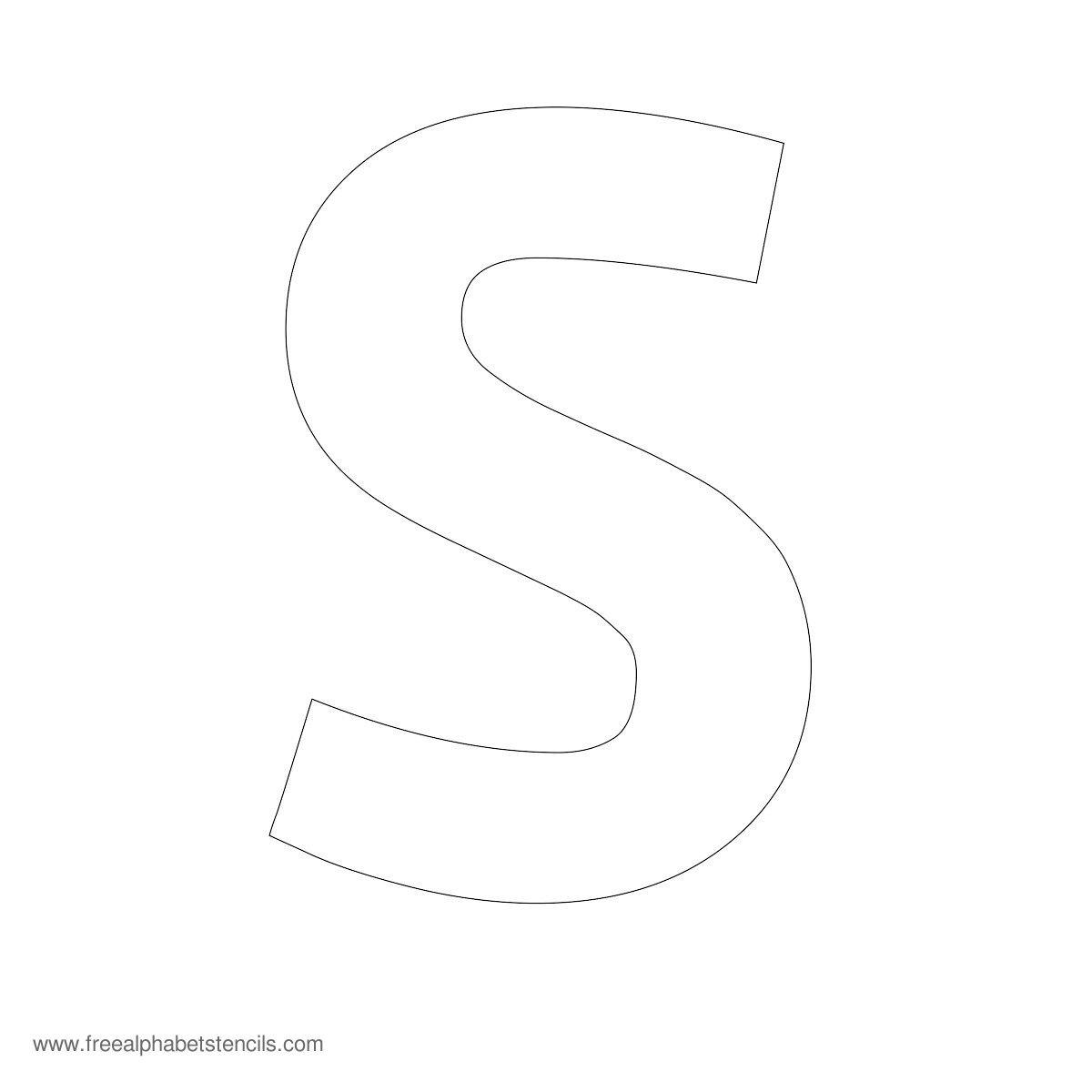 Large Alphabet Stencils | Freealphabetstencils with regard to Tracing Stencils Letters