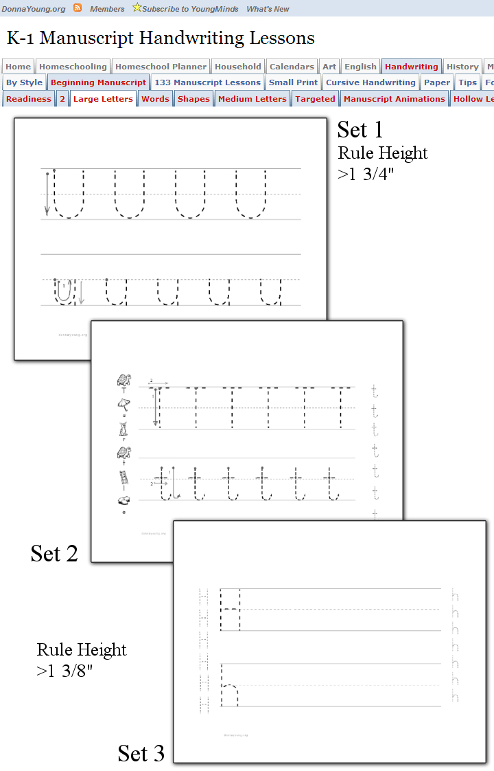 Large Letters - Manuscript Handwriting Lessons - The within Hollow Letters For Tracing