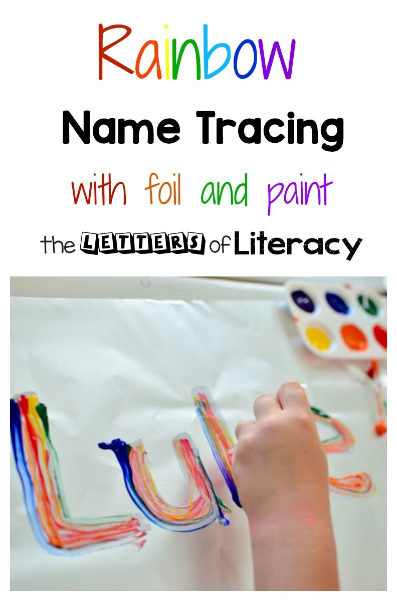 Learn To Write Your Name - Rainbow Name Tracing Art Activity pertaining to Tracing Letters Of Your Name