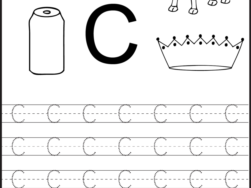 Learning The Letter C | Worksheet | Education within Trace Letter C Worksheets Preschool