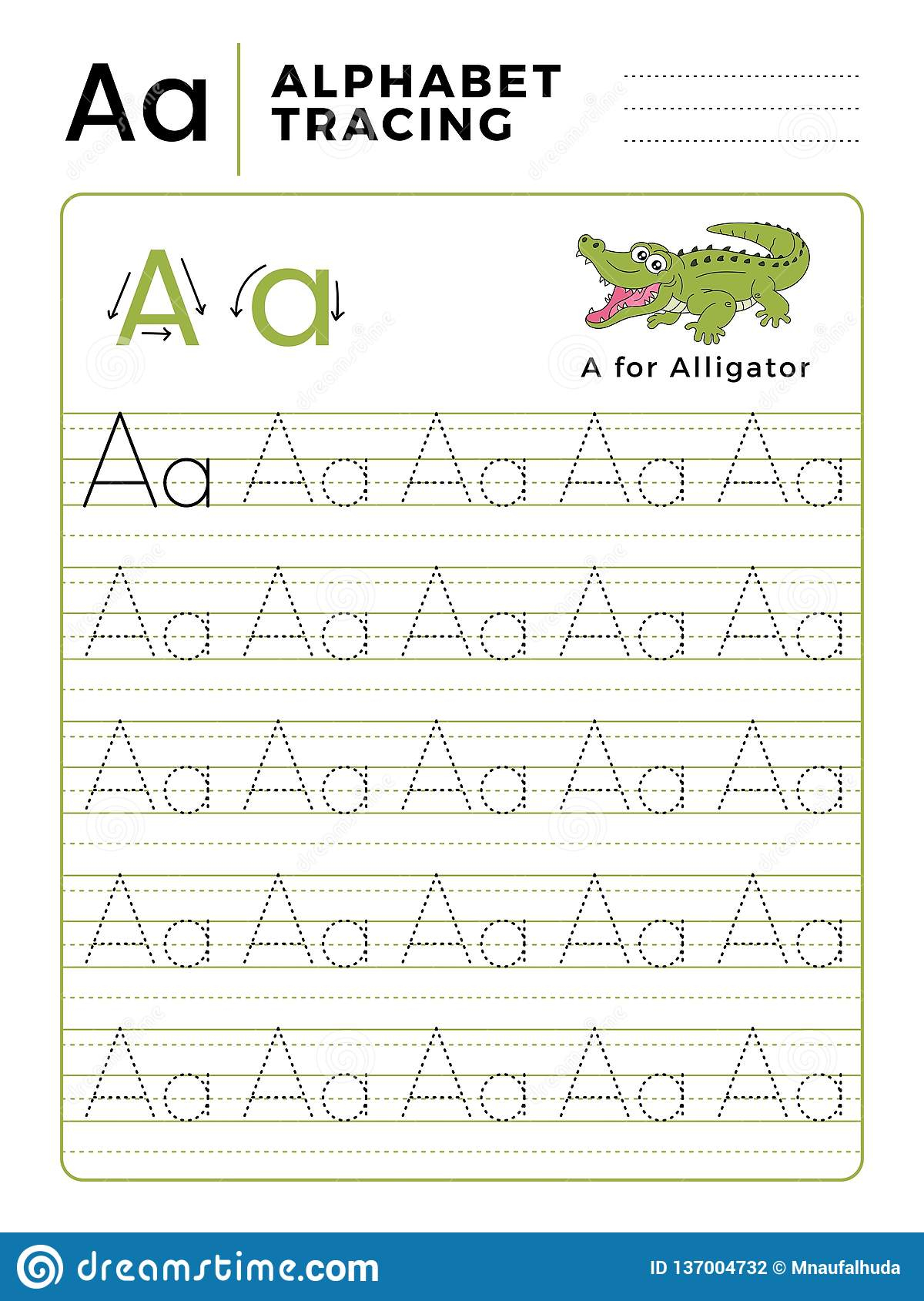 Letter A Alphabet Tracing Book With Example And Funny regarding Alphabet Tracing Letters Font