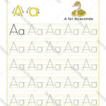 Letter A Alphabet Tracing Book With Example And with Tracing Letters And Numbers Books