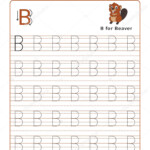 Letter Alphabet Tracing Book Example Funny Beaver Cartoon regarding Preschool Worksheets Tracing Letters And Numbers