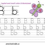 Letter B Worksheets - Preschool And Kindergarten | Letter B within Practice Tracing Letters Preschool