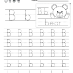 Letter B Writing Practice Worksheet - Free Kindergarten intended for Tracing Letter B Worksheets