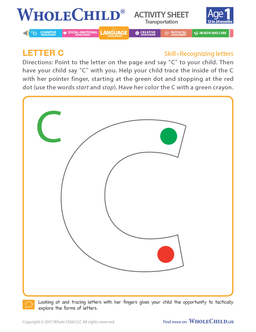 Letter C | Resources | Whole Child within Tracing Letters With Fingers