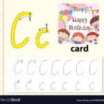 Letter C Tracing Alphabet Worksheets inside Happy Birthday Tracing Letters