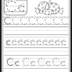 Letter C Tracing Sheet Letter C Worksheet Preschool Letter B within Trace Letter C Worksheets Preschool