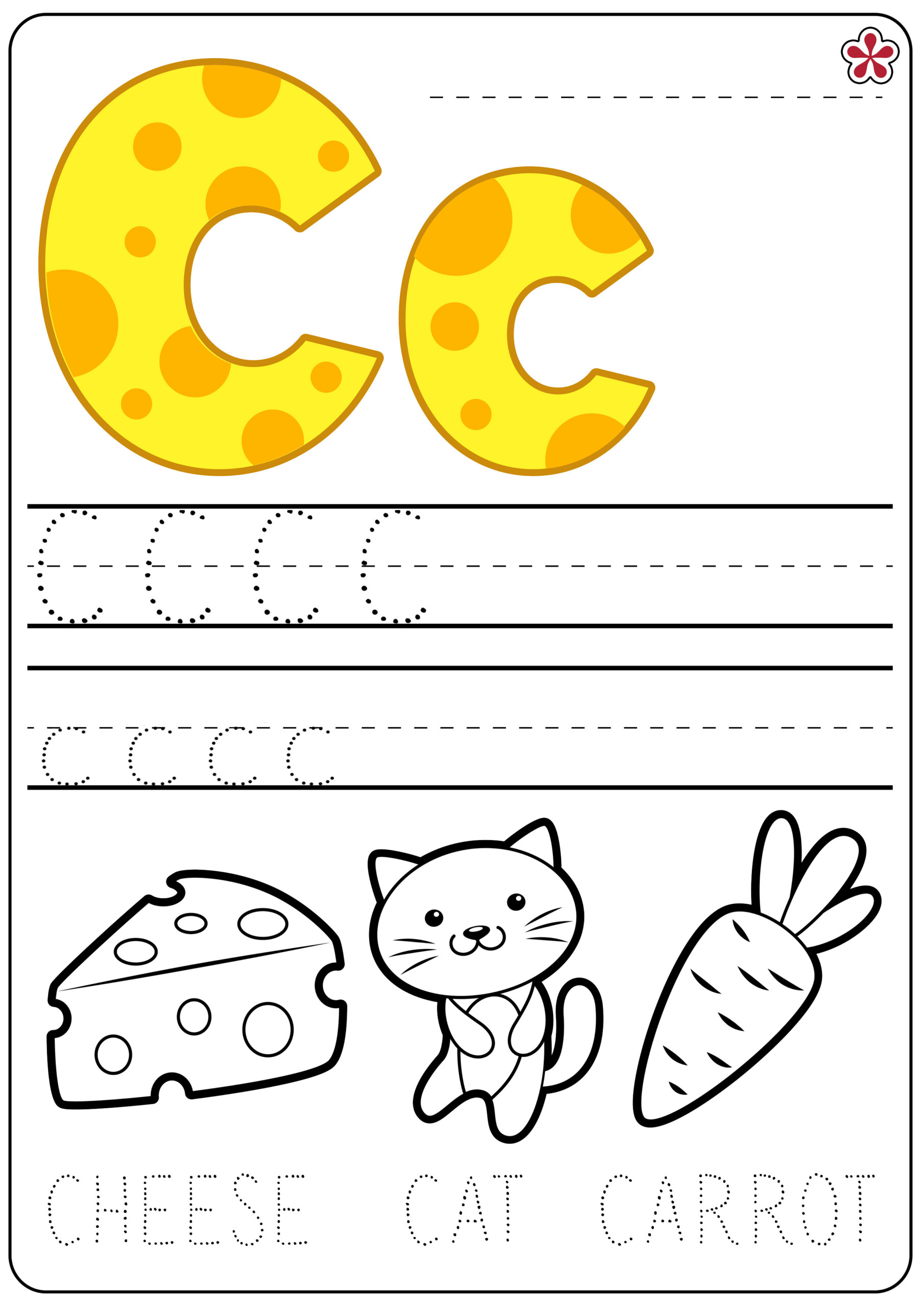 Letter C Worksheets | Teachersmag in Tracing Letter C Worksheets