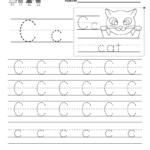 Letter C Writing Practice Worksheet - Free Kindergarten with C Letter Tracing Worksheet