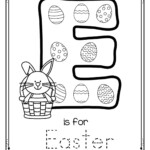 Letter E Is For Easter Trace And Color Printable Free regarding Finger Tracing Alphabet Letters