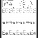 Letter E Worksheet | Preschool Writing, Preschool Letters inside Letter E Tracing Worksheets