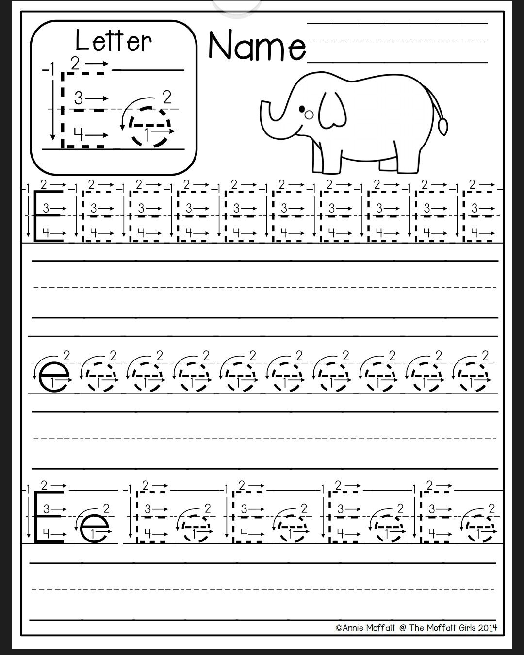 Letter E Worksheet | Preschool Writing, Preschool Letters inside Letter E Tracing Worksheets